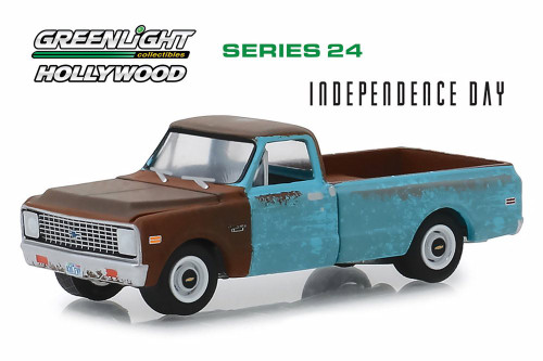 1971 Chevy C-10 Pickup Truck, Independence Day - Greenlight 44840D/48 - 1/64 scale Diecast Model Toy Car