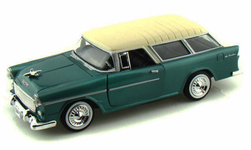 1955 Chevrolet Belair Nomad, Green - Motormax Premium American 73248 - 1/24 Scale Diecast Model Car