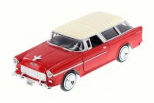 1955 Chevy Belair Nomad, Red - Motor Max 73248WB - 1/24 Scale Diecast Model Toy Car