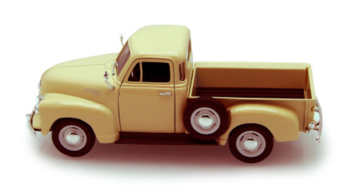 1953 Chevy 3100 Pickup Truck, Cream - Welly 22087 - 1/24 scale Diecast Model Toy Car