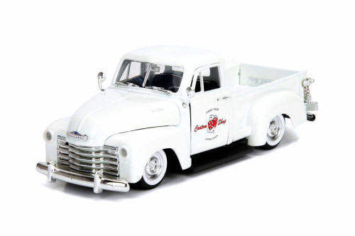 1953 Chevy 3100 Pick Up 'Custom Shop', Pearl White - Jada 99039DP1 - 1/24 scale Diecast Model Toy Car