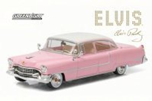 Elvis Presley 1955 Cadillac Fleetwood Series 60, Pink - Greenlight 86491 - 1/43 Scale Diecast Model Toy Car