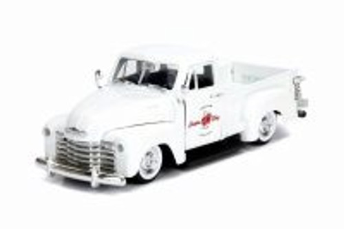 1953 Chevy 3100 Pick Up 'Custom Shop', Pearl White - Jada 99177 - 1/24 scale Diecast Model Toy Car