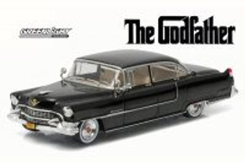The Godfather 1955 Cadillac Fleetwood Series 60, Black - Greenlight 86492 - 1/43 Scale Diecast Model Toy Car