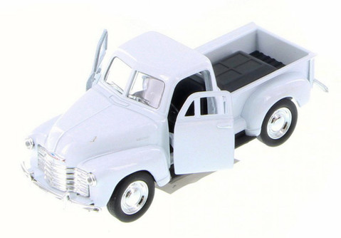 Chevy 3100 Pick Up Truck, White - Welly 43708D - 1/34 Scale Diecast Model Toy Car