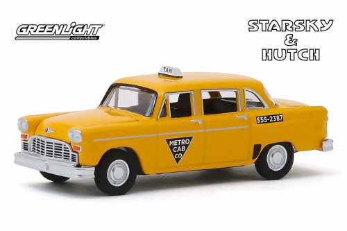 1968 Checker Taxi 'Metro Cab Co.', Starsky and Hutch - Greenlight 44855C/48 - 1/64 scale Diecast Model Toy Car