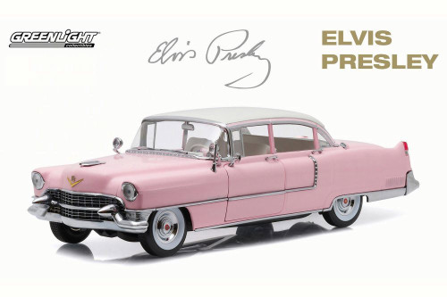 Elvis Presley's 1955 Pink Cadillac Fleetwood Series 60 - Greenlight 12950 - 1/18 Scale Diecast Model Toy Car