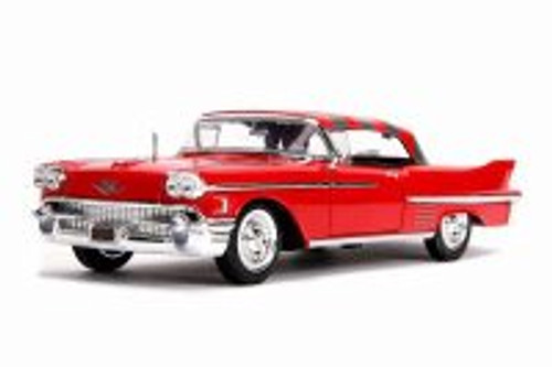 1958 Cadillac Series 62 with Freddy Krueger Figure, A Nightmare on Elm Street - Jada 31102 - 1/24 scale Diecast Model Toy Car