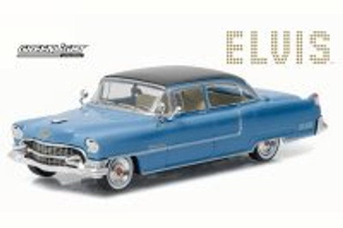 Elvis Presley 1955 Cadillac Fleetwood Series 60, Blue - Greenlight 86493 - 1/43 Scale Diecast Model Toy Car