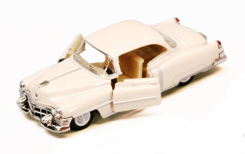 1953 Cadillac Series 62, Ivory - Kinsmart 5339D - 1/43 scale Diecast Model Toy Car (Brand New, but NOT IN BOX)