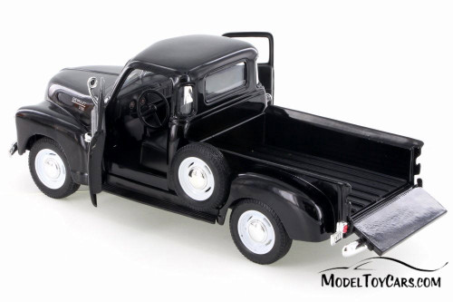 1953 Chevy 3100 Pick Up Truck, Black - Welly 22087/4D - 1/24 Scale Diecast Model Toy Car