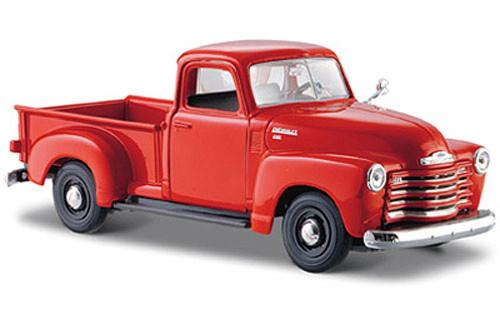 1950 Chevy 3100 Pickup Truck, Orange - Maisto 31952 - 1/24 Scale Diecast Model Toy Car