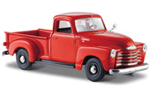 1950 Chevy 3100 Pickup Truck, Orange - Maisto 31952 - 1/24 Scale Diecast Model Toy Car