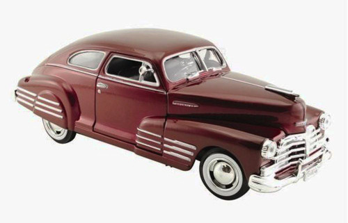 1948 Chevrolet Aerosedan Fleetline, Burgundy - Showcasts 73266 - 1/24 Scale Diecast Model Toy Car