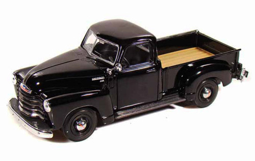 1950 Chevy 3100 Pickup Truck, Black - Maisto 31952 - 1/24 Scale Diecast Model Toy Car