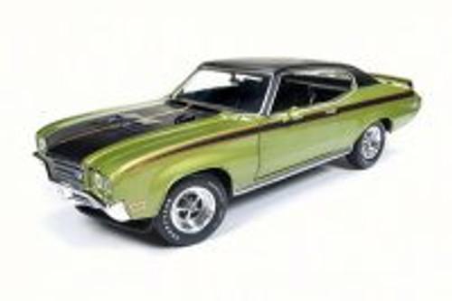 1971 Buick Skylark GSX Hard Top, Limemist Green - Auto World AMM1117 - 1/18 Scale Diecast Model Toy Car