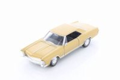 1965 Buick Riviera Grand Sport Hard Top, Gold - Welly 24072/4D - 1/24 Scale Diecast Model Toy Car