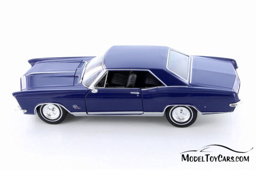 1965 Buick Riviera Grand Sport Hard Top, Blue - Welly 24072/4D - 1/24 Scale Diecast Model Toy Car
