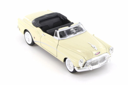 1953 Buick Skylark Open Convertible, Cream White - Welly 24027C/H/4D - 1/24 Scale Diecast Model Toy Car