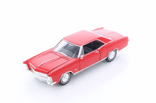 1965 Buick Riviera Grand Sport Hard Top, Red - Welly 24072/4D - 1/24 Scale Diecast Model Toy Car