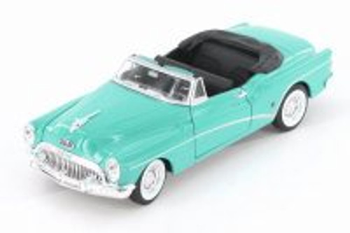 1953 Buick Skylark Opened Convertible, Green - Welly 24027CWGN - 1/24 Scale Diecast Model Toy Car