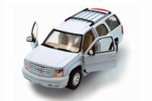 2002 Cadillac Escalade SUV, White - Welly 22412WT - 1/24 scale Diecast Model Toy Car
