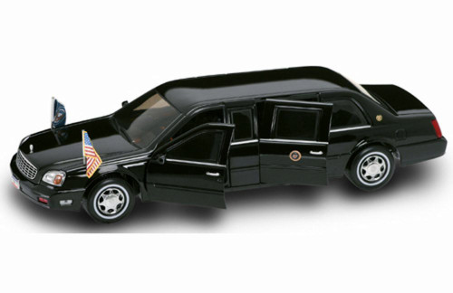2001 Cadillac Deville Presidential Limousine - Road Signature 24018 - 1/24 Scale Diecast Model Toy Car