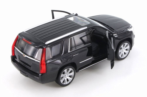 2017 Cadillac Escalade, Gloss Black - Welly 24084/4D - 1/24 Scale Diecast Model Toy Car