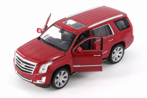 2017 Cadillac Escalade, Red - Welly 24084/4D - 1/24 Scale Diecast Model Toy Car