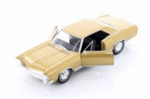 1965 Buick Riviera Grand Sport Hardtop, Gold - Welly 24072WG - 1/24 scale Diecast Model Toy Car