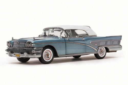 1958 Buick Limited Closed Convertible, Blue Mist - Sun Star 4815 - 1/18 Scale Diecast Model Toy Car