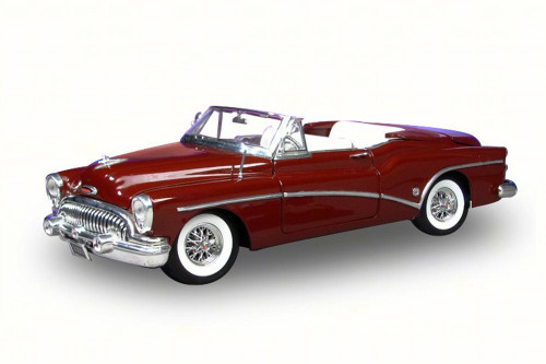 1953 Buick Skylark Convertible, Red - Motor Max 73129 - 1/18 Scale Diecast Model Toy Car