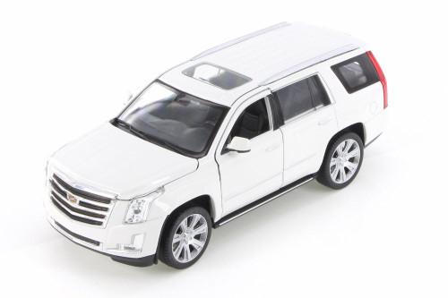 2017 Cadillac Escalade, White - Welly 24084/4D - 1/24 Scale Diecast Model Toy Car