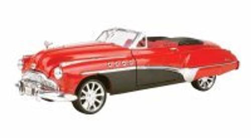 1949 Buick Roadmaster Convertible, Red - Motormax Custom Classics 79004 - 1/18 Scale Diecast Model Car