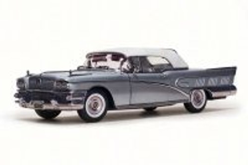 1958 Buick Limited Closed Convertible, Silver Mist - Sun Star 4816 - 1/18 Scale Diecast Model Toy Car
