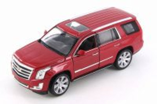 2017 Cadillac Escalade, Red - Welly 24084WR - 1/24 Scale Diecast Model Toy Car