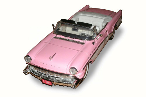 1957 Buick Roadmaster Convertible, Pink & White - Motor Max 73152 - 1/18 Scale Diecast Model Toy Car