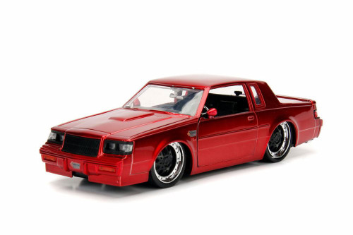 1987 Buick Grand National Hard Top, Red - Jada 30341DP1 - 1/24 Scale Diecast Model Toy Car
