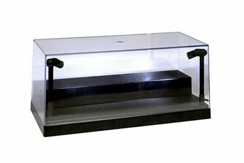 Acrylic LED Display Case With removable riser, Black - ModelToyCars 9902BK - 1/24 Scale Display Case for Diecast Cars
