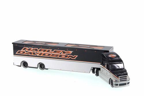 Harley Davidson Long Haulers, Gray - Maisto 11516 - 1/64 Scale Diecast Model Toy Car
