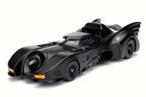 1989 Batman Returns Batmobile, Black - Jada 98263 - 1/24 Scale Diecast Model Toy Car