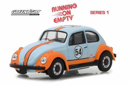 1966 Volkswagen Beetle, #54- Gulf Oil - Greenlight 87010D/24 - 1/43 scale Diecast Model Toy Car