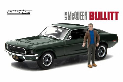 Steve McQueen Bullitt Diecast Toy Car Package - Two 1/43 Scale Diecast Model Cars