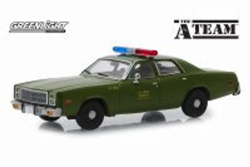 1977 Plymouth U.S Army Police Hard Top, The A-Team - The A-Teamlight 86556 - 1/43 scale Diecast Model Toy Car
