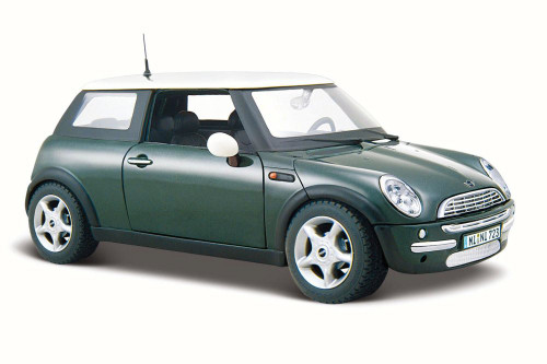 Mini Cooper Hard Top, Green - Maisto 31219 - 1/24 Scale Diecast Model Toy Car