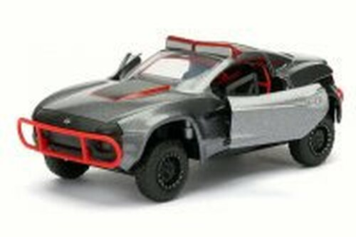 Letty's Rally Fighter F8 Fate of Furious, Gray w/Red - Jada 98302 - 1/32 Scale Diecast Model Toy Car