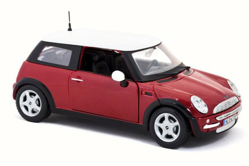 Mini Cooper Hard Top, Red - Maisto 31219 - 1/24 Scale Diecast Model Toy Car