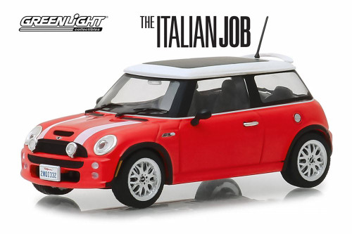 2003 Mini Cooper, The Italian Job (2003) - Greenlight 86547 - 1/43 scale Diecast Model Toy Car