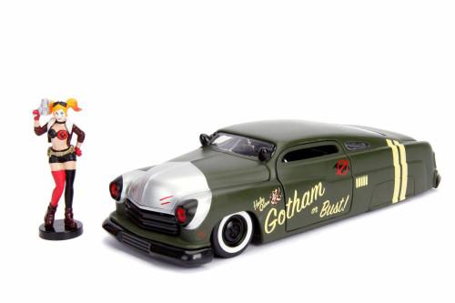 1951 Mercury with Harley Quinn Figurine, Harley Quinn - Jada 30456 - 1/24 scale Diecast Model Toy Car