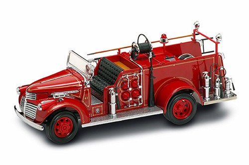 1941 GMC Fire Truck, Red - Road Signature 20068 - 1/24 Scale Collectible Diecast Model